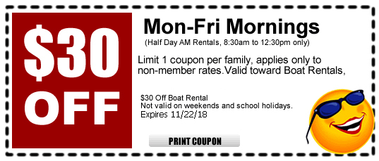 Coupon For Boat Rental